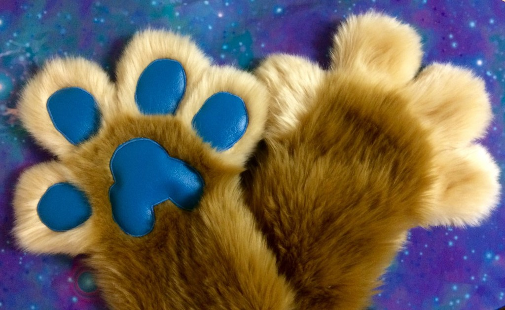 Beige and Tan Paws with Blue Pawpads