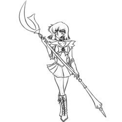 Sailor Moon: Sailor Saturn pt4 -sketch-
