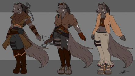 Leinad F - Ref Sheet - clothing