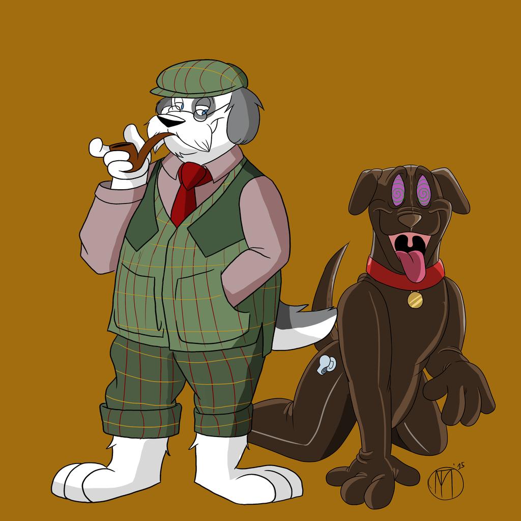 A Hunter and His Dog by MB_Thomas