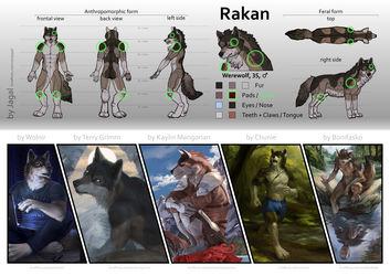 Rakan Reference Sheet v4 (SFW) by Rakan et al.