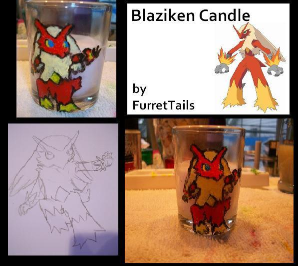 Blaziken Candle