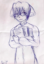 receipt sketch: the librarian