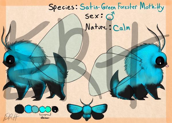 Satin-Green Forester Mothitty [com]