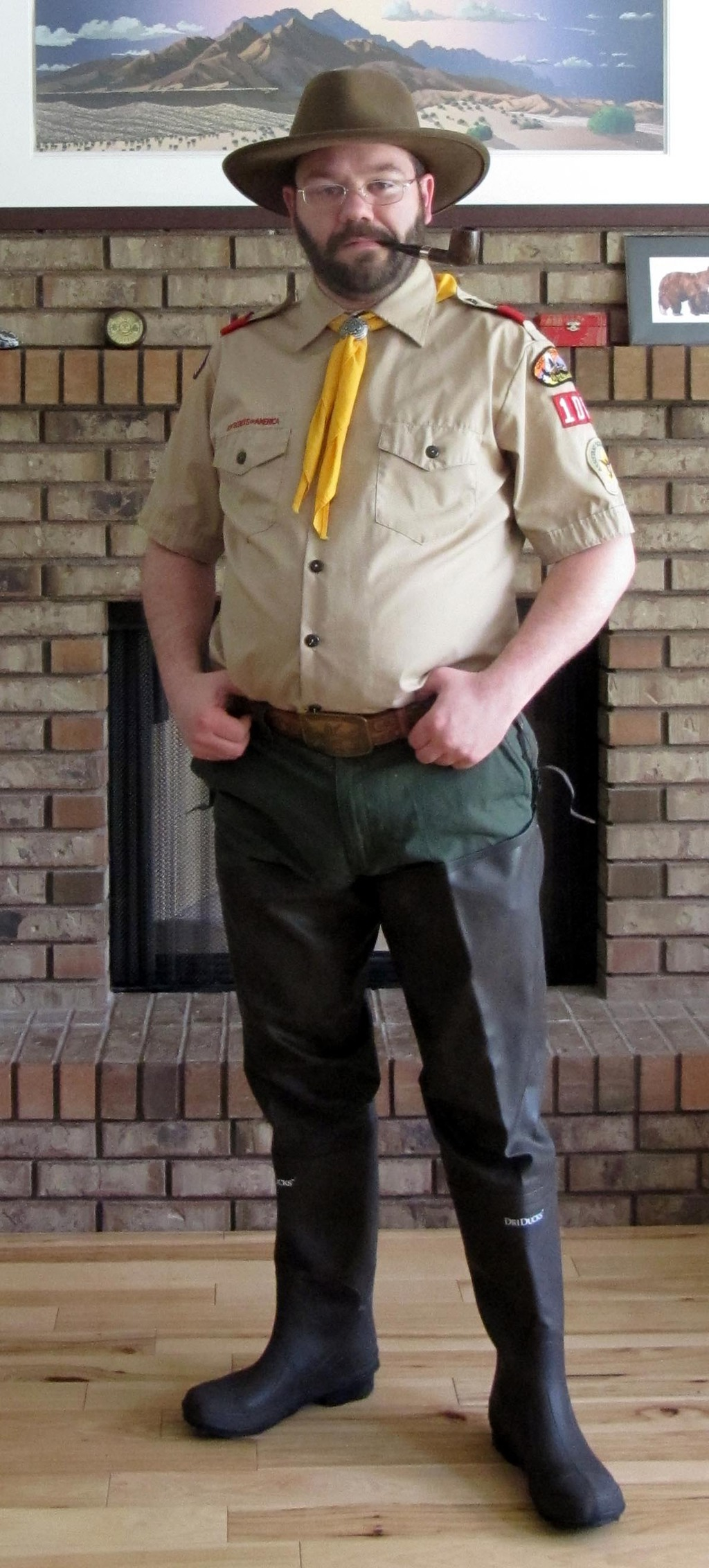 Scoutmaster in Hip Waders