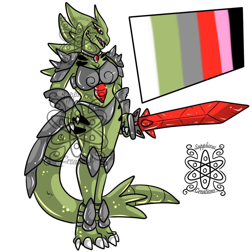 Armored Female Tyranitar +Design+ (SOLD)