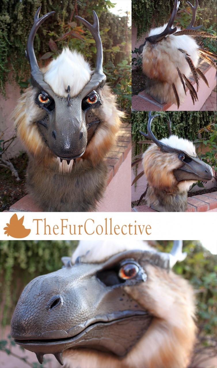 Furred Dragon Mask - TheFurCollective