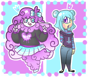 [AT] pretty pastel goth princesses