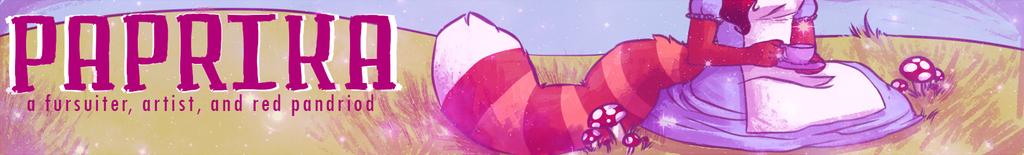 Paprika's Weasyl Banner