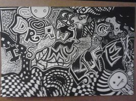 """""""Drawing Is My Life"""" Doodle"""