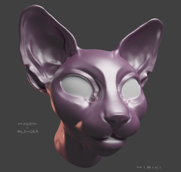 Blender Cat Head