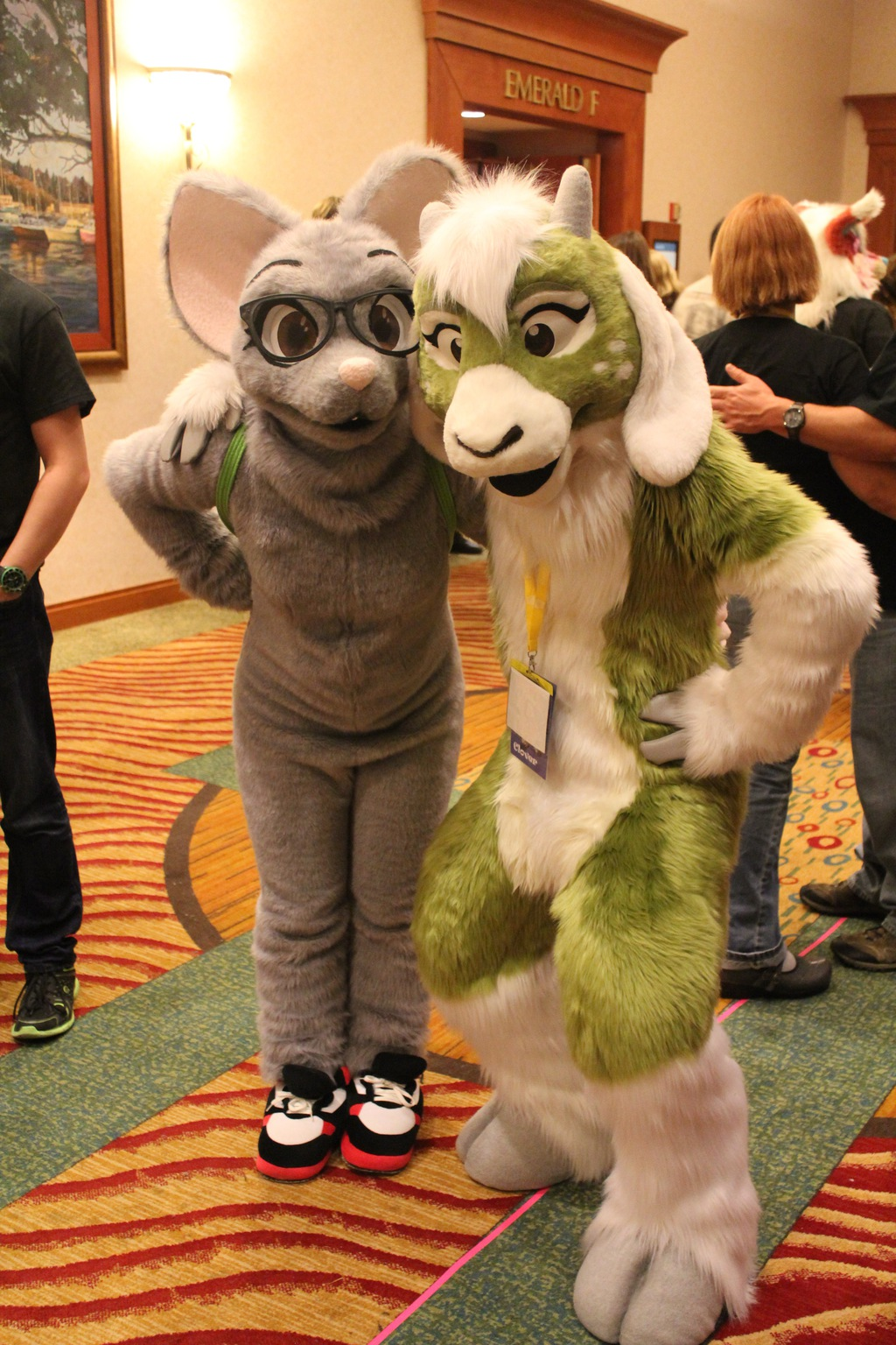 Momo and Clover at Rainfurrest 2014