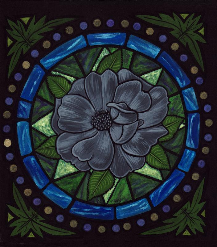 True Lead Rose Window