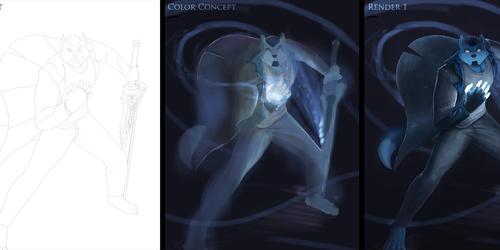 Blue Flames - Progression