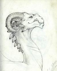 Blackriver - Khardash dragon sketch - 2014/07/04