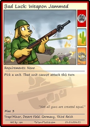 Tails and Tactics: Preview of: Bad Luck: Weapon Jammed Card