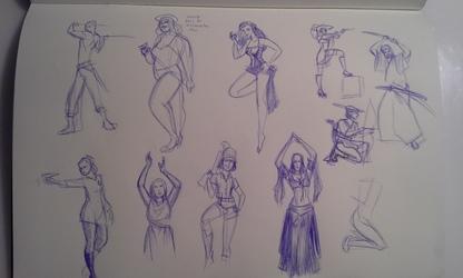 Gesture/Figure drawings- 2/15/16