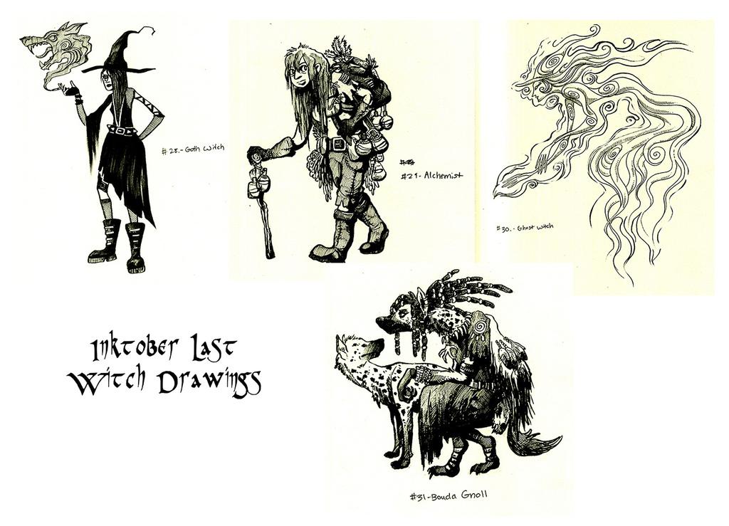Inktober Last Drawings