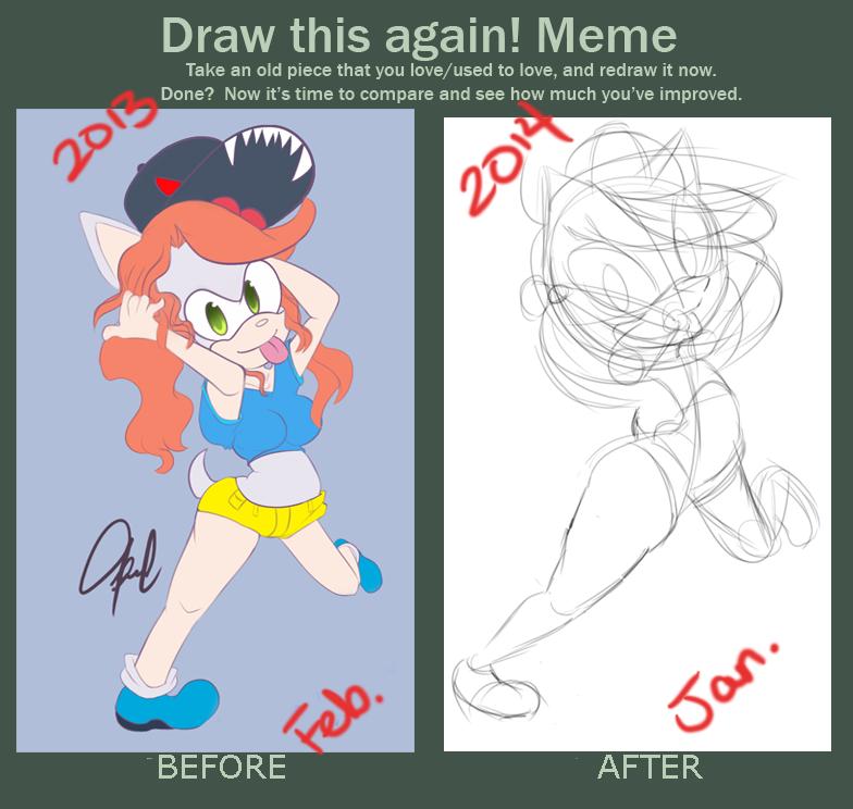 Draw it again! Redraw meme