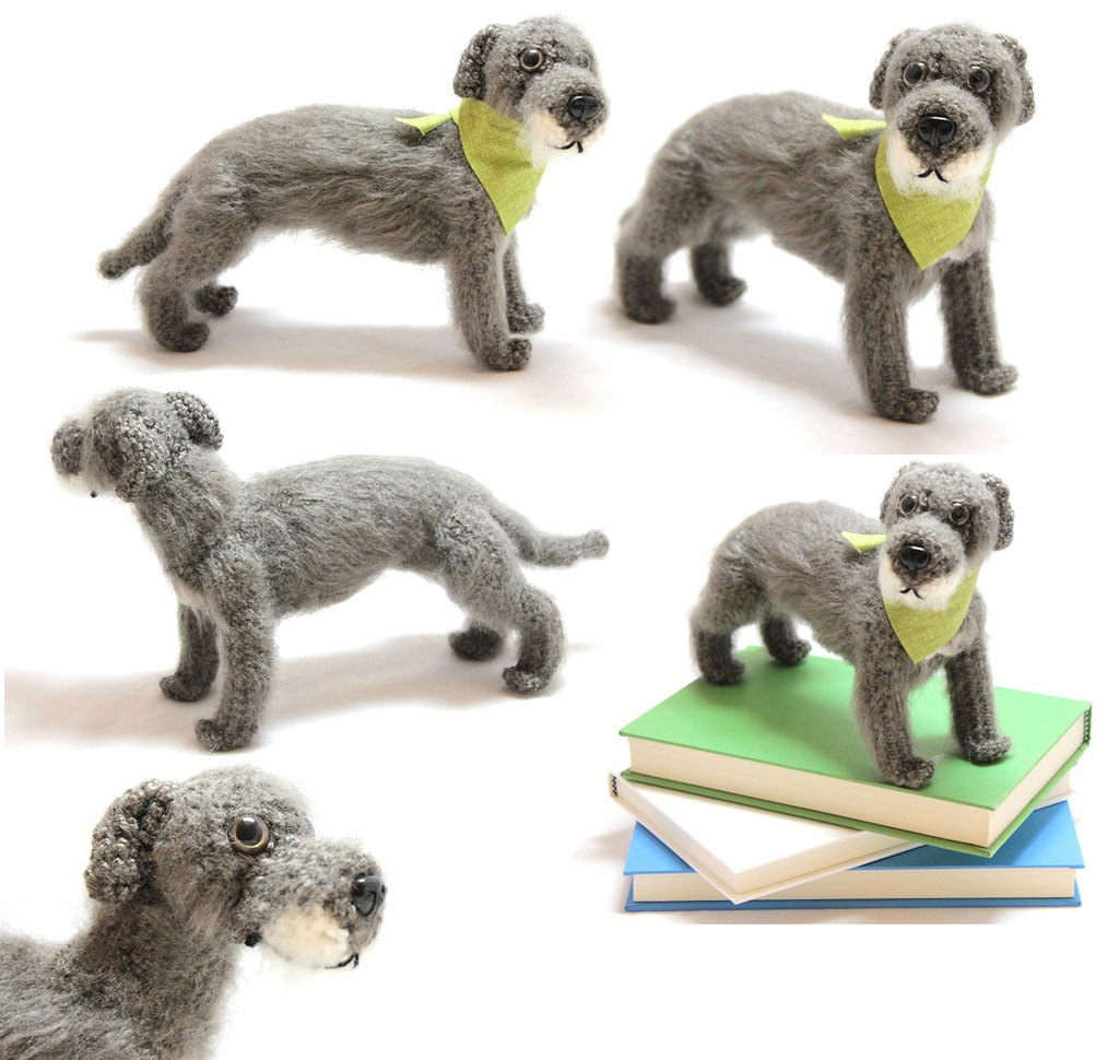 Most recent image: Irish Wolfhound Doll - For Sale!