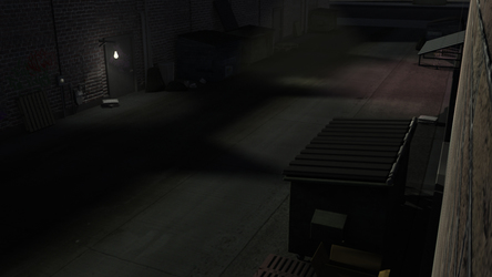 [3D] Alleyway with Finished Lighting