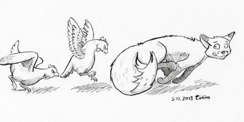 #inktober 2018 - day 5 - chicken