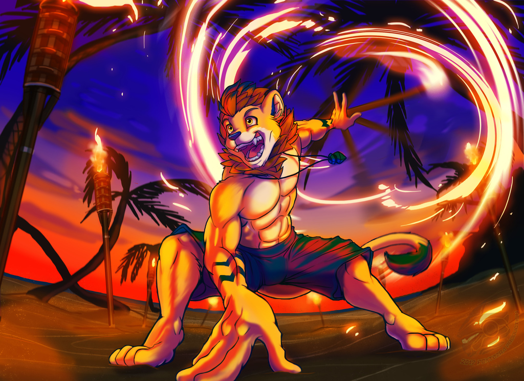 Night on Fire! (Commission Art)