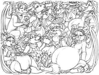 gdzeek sketchpage commission (stuffing)
