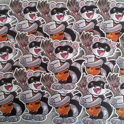 Chibi Rocket Raccoon and Groot Vinyl Sticker