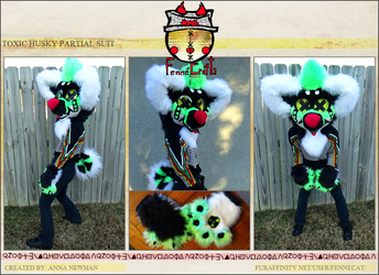 FennéCrafts - Toxic Husky Partial Suit (2017) Sold!