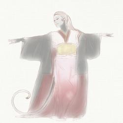 Karasu's Dance Sketch - OLD DESIGN