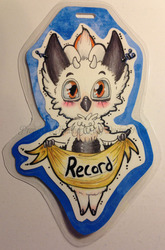 Commission: Chibi Record Badge