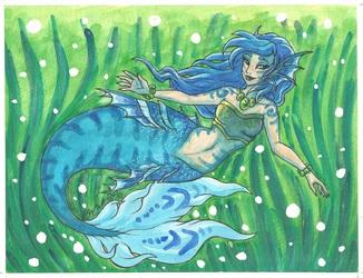 The blue mermaid