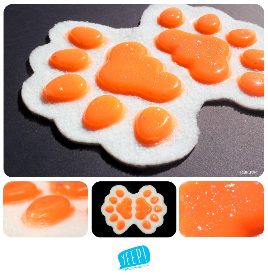 HANDPADS: Starry orange (UV)