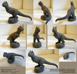 Carnotaurus Mini-Sculpt