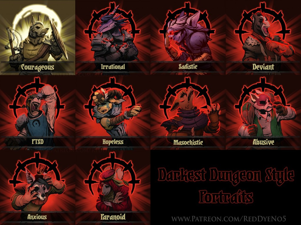 Darkest Dungeon Style Portraits - Set 1