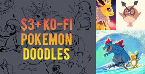 [closed] Ko-Fi Pokemon Doodles $3+