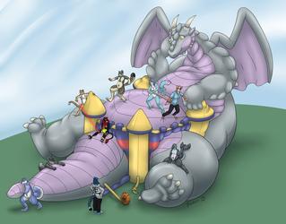 Bouncy Dragon Castle