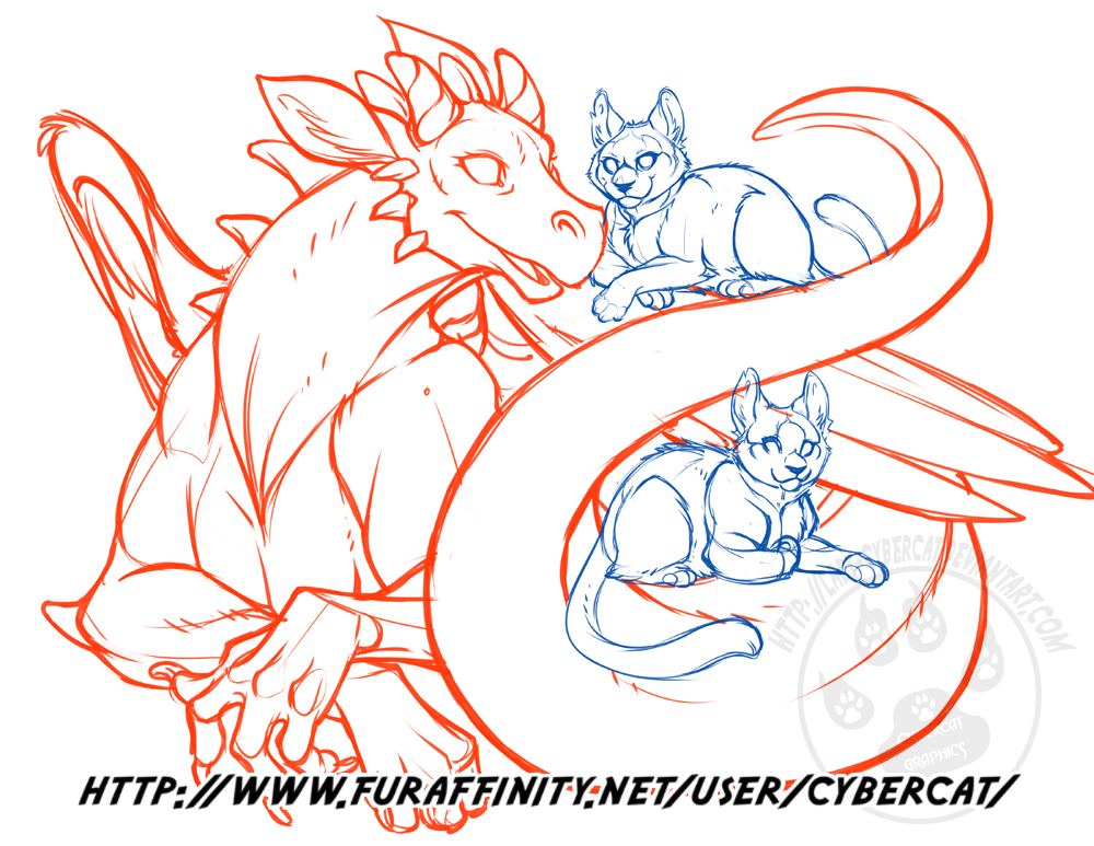Dragon and Friends work in progress