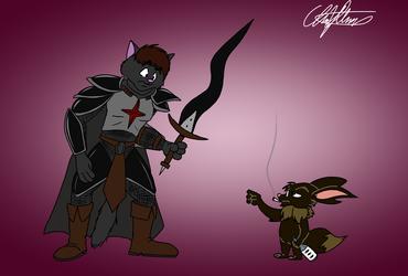 Sir Kain and EricEevee, by ToledoFur