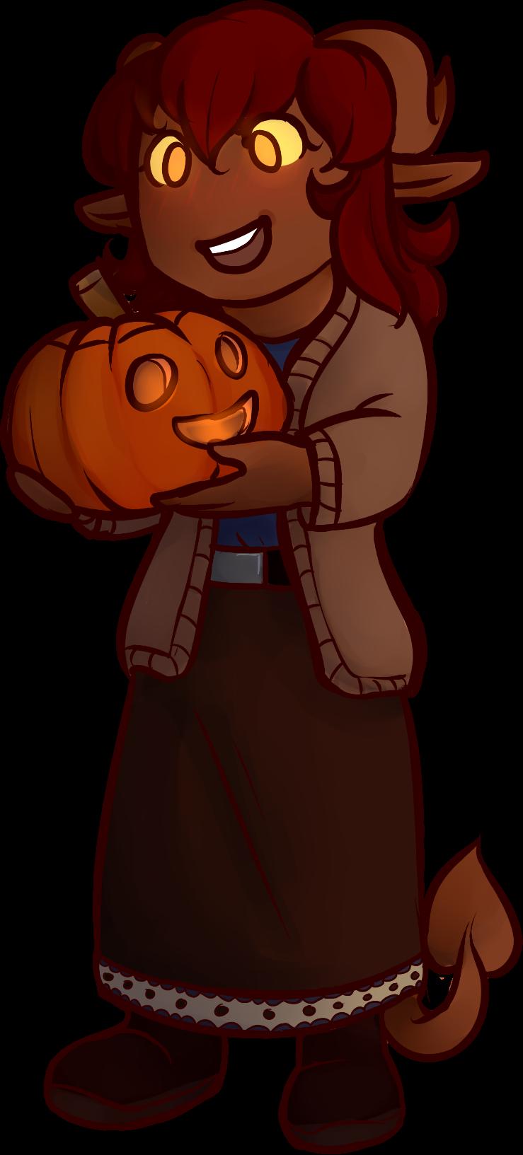 Kassie Finds a Pumpkin