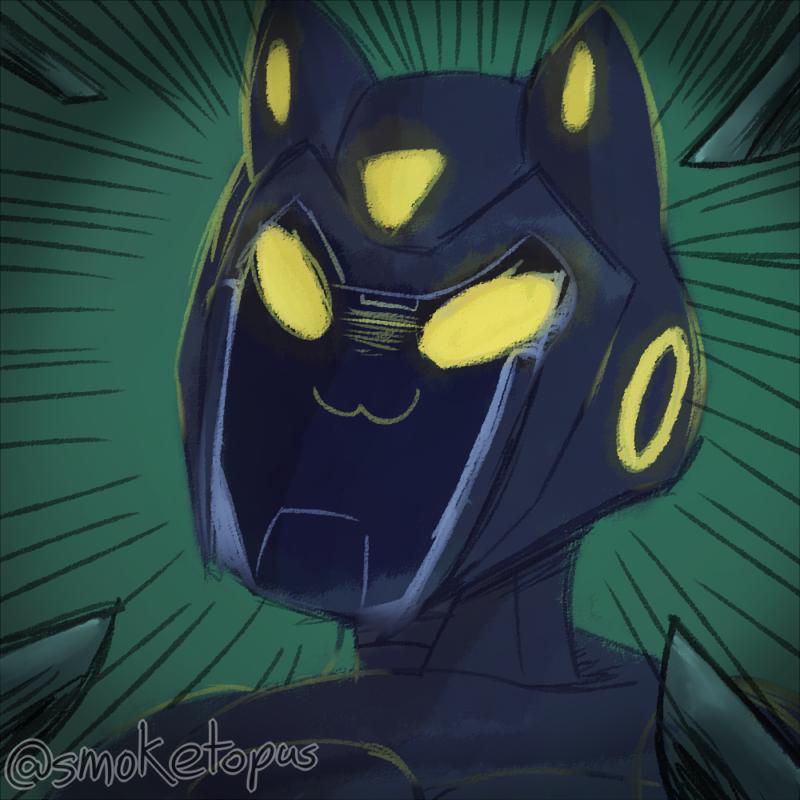 Artfight - knife catbot!