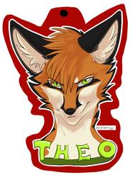 Theo the Fox badge