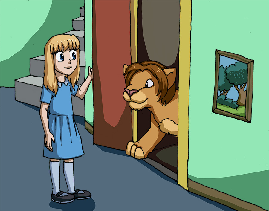 [commission] girl and lion 9