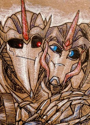 ACEO--Cuddle Fight