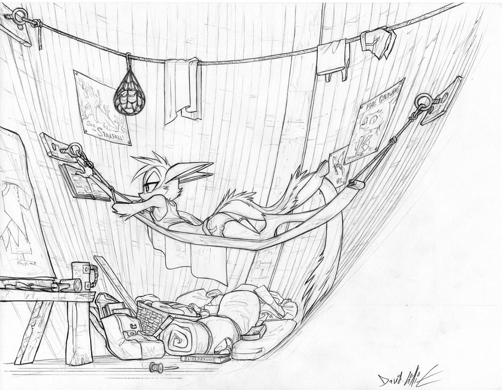 Plush Kickstarter Sketch- Vi Studying