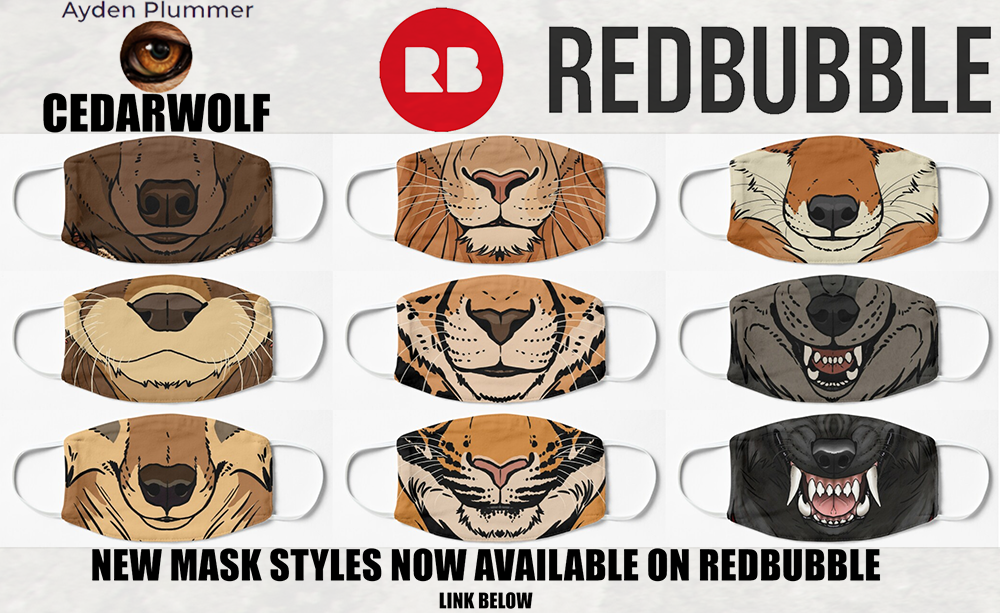 Most recent image: Masks now on Redbubble!