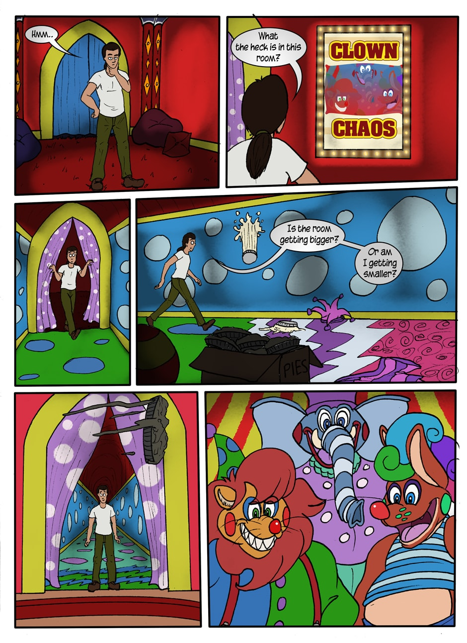 Clown Chaos Pg 1 | Funhouse Of Horror