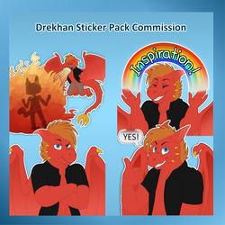 Drekhan Sticker Pack Commission