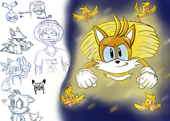 Mugi Draws Super Tails Submission